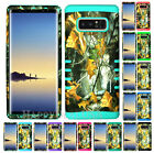 For Samsung Galaxy Note 8 - KoolKase Hybrid Silicone Cover Case - Camo Mossy 04