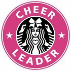 Cheerleader Starbucks Sticker, CHEER BOW Printed and Laminated DIE-CUT, Decal