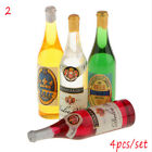 4X Miniature Bottled Mineral Water 1 6 1 12 Scale Model Home Decor