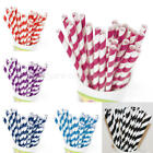 25x Colorful Paper Stripe Striped Drinking Straws Party Decoration Supply Decor