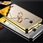 Luxury Aluminum Metal Mirror Case PC Back Cover Skin For Huawei Various Phone
