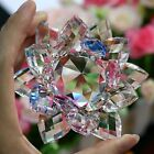 LARGE  MULTI CRYSTAL LOTUS FLOWER ORNAMENT WITH GIFT BOX  CRYSTOCRAFT HOME_13CM