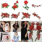 New Embroidery Rose Flower Sew On Patch Badge Bag Hat Jeans Dress K0E1 01