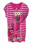 NEW LADIES GIRLS EX STORE RETRO ELMO PINK COTTON T-SHIRT NIGHTSHIRT SZ 8-14