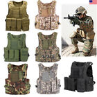 Tactical Military SWAT Police Airsoft Molle Combat Assault Plate Carrier Vest US