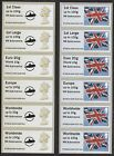 RN Submarine Post & Go Faststamp MA15 Machin LOGO & Flag Collector Strips
