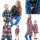 "TINFL Baby Girls Woman Plaid Check Cotton Blend One Piece  ""Mom N Me"""