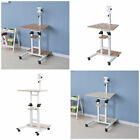 adjustable height desktop computer stand - Stand Mounted Desktop Computer Desk Adjustable Height Study Table with Wheels