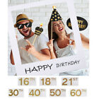 UK Large Size 30/40/50th Happy Birthday Party Props Photo Booth Selfie Frame