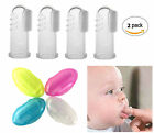 Baby Finger Toothbrush Silicone Infant Oral Gum Massager 2 PCS with Case