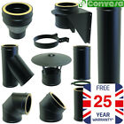 5inch Twin Wall Flue Kit Black Fittings Bends 125mm Convesa Black Stove Pipe