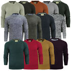 Mens Brave Soul 'Binary' & 'Neutron' Crew Neck Jumper Fishermans Chunky Rib Knit