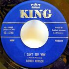 BUBBER JOHNSON w/GROUP 45 As long as I live / I can't see why KING Doowop d163