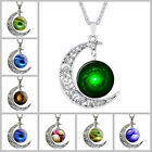 Fashion Necklace Starry Sky And Moon Time Precious Stones Vintage Jewelry