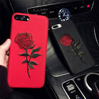 Elegant Embroidery Rose Flower Phone 3D Case Cover for IPhone 7 7Plus S7 Edge