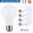4pcs 3W 5W 7W 9W 12W LED E27 B22 GLS Lamp Light Bulbs Warm Cool Day White