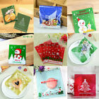 100Pc Christmas Self Adhesive Cookie Candy Package Gift Bags Xmas Party Supplies