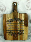 Engraved Painted & Personalised Bread/Chopping Board - Wedding Gift - 58