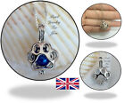 Exquisite Paw Cat Silver Pearl Cage Pendant Necklace Wish Akoya Oyster JJ 102