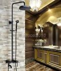 Oil Rubbed Brass Rain Shower Faucet Set Tub Mixer Tap With Hand Shower lrs367