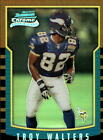 t1474 - 2000 Bowman Chrome Refractors #202 Troy Walters Vkings RC NM-MT