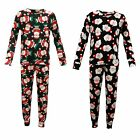 Girls Christmas Santa Top & Bottom 2 Pc Set Jogsuit Lounge wear Tracksuit New