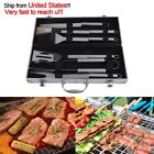 BBQ Grill Tools Set 6PCS Stainless Steel Outdoor Utensils With Aluminum Case S2