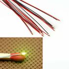 T0603WM 10pcs Pre-soldered micro litz wired leads Lighting Kits SMD Led Yellow
