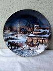 "DANBURY MINT - Terry Redlins Annual Christmas - "" Evening Rehearsal "" Plate"