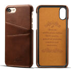 Back Credit Card Slot Premium Slim Leather Case Cover For iPhone 6S 7 8 Plus NEW