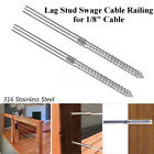 "Внешний вид - 2~200Pcs T316 Stainless Steel Lag Stud Hand Swage Cable Railing for 1/8"" Cable"