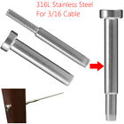 """Внешний вид - 2~200X Stainless Steel Invisible Receiver Stud Swage End Fit 3/16"""" Cable Railing"""