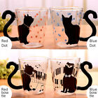 300 ML Creative Cute Transparent Cat Handle Glass Mug Tea Cup Coffee Milk Cup
