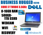 Dell Laptop Business Rugged Core I7 Turbo 3.5ghz Notebook Dvdrw Wifi Sshd Camera