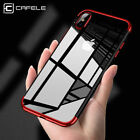 For iPhone X 8 7 6s Plus Defender Plating Clear Slim Hybrid