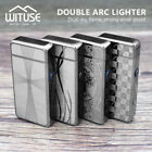 Electric USB Rechargeable Arc Lighter Windproof Flameless Dual Plasma Torch 5E3