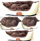 Top Quality Soft Washable Cat Dog Pet Basket and Bed Cushion with Fleece Lining