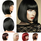 Внешний вид - Lady Girl Bob Wig Women's Short Straight Bangs Full Hair Wigs Cosplay Party