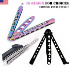 Practice Training Dull BALISONG BUTTERFLY Tactical Trainer Knife Kids Adult Gift