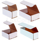 White Corrugated Mailers MANY SIZES 50 100 200 Shipping Packing Fold Box