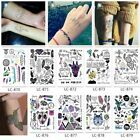 Small Temporary Tattoo Stickers Body Art Waterproof Birds Wolf feather