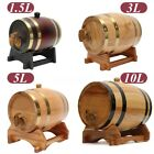 5l keg beer - 1.5L/3L/5L/10L Vintage Wood Oak Timber Wine Barrel For Beer Whiskey Rum Port Keg
