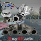 T3 /T4 TURBO +MANIFOLD +CHROME WASTEGATE +OIL FEED RETURN LINE FOR HONDA DEL SOL D15