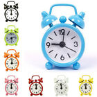 Portable Cute Mini Travel Alarm Clock Round Dial Number Desk Bedside Clocks