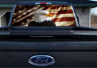 Eagle And American Flag, Rear Window Graphics, Perforated Vinyl,
