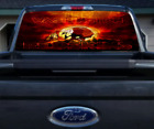 Redskins, Rear Window Graphics, Perforated Vinyl, Custom Prints, American Pride
