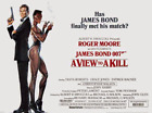 35mm Feature Film: A VIEW TO A KILL (1985) Roger Moore - GORGEOUS PRINT - Scope $299.0 USD