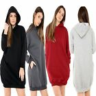 Ladies Over-sized  Baggy Hooded Long Sleeve Sweatshirt/Tunic Top