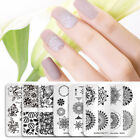 Born Pretty Nail Art Stamping Plates Square Image Template Tips Decor Collection