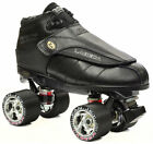 Black Labeda G80 Knight Rider Leather Quad Speed Roller Derby Jam Skates